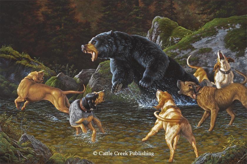 картинка охота на медведя с собаками фотографировали только