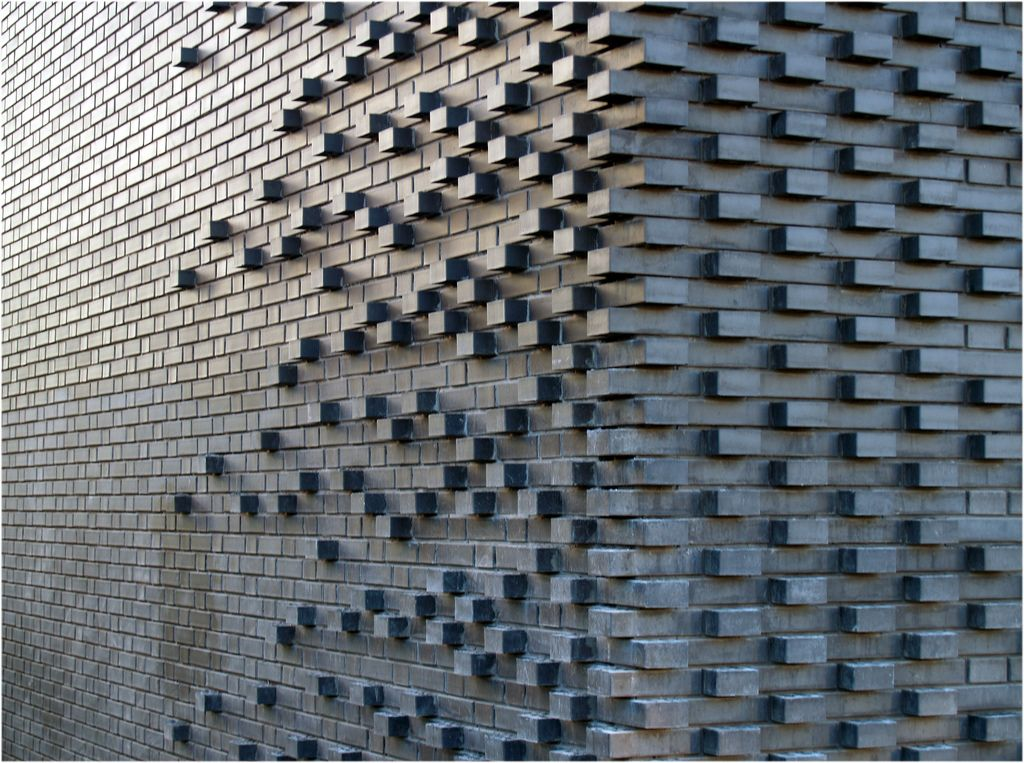 brick pattern mark koehler architects handmade tiles can be colour coordinated and customized re - Brick Design Wall