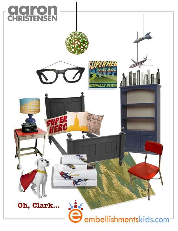 Oh, Clark (as In Kent) Geek Chic   Smart Boyu0027s And Nerdu0027s Decor