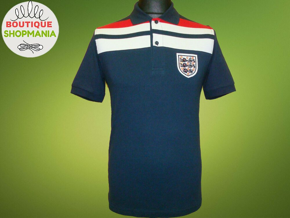 New Mens England Retro 82 World Cup S Navy Polo Shirt Sd82 By Score Draw Soccer Ebay In 2020 Navy Polo Shirt Navy Polo Polo Shirt