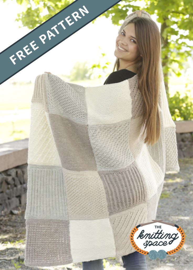 Comfort Knitted Patch Blanket FREE Knitting Pattern in ...