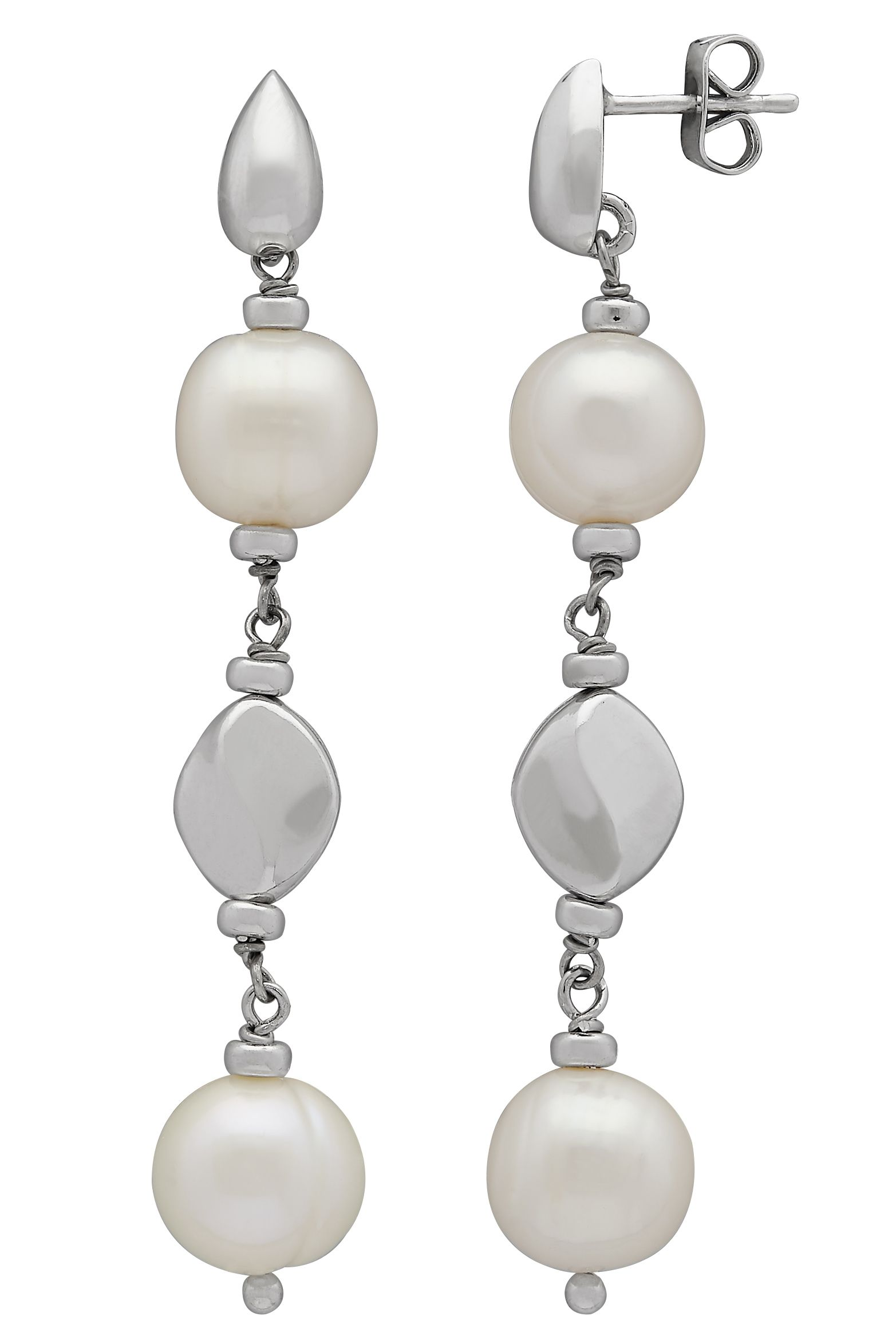Honora Dots And Dashes 2 25 Cultured Pearl Drop Earrings In Sterling Silver Pearlearrings Pearls Jewelry