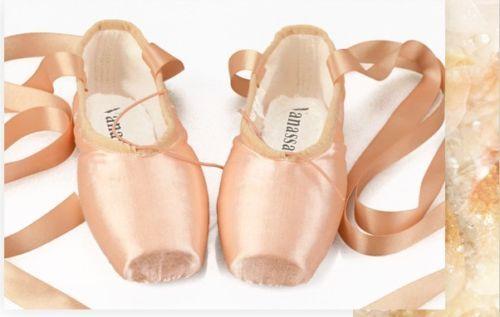 Pro Hard Ellis Bella Satin ballet pointe shoes Full Shank Classic