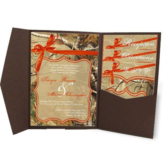 DIGITAL FILES Diy Wedding Invitation Mailing Template Set - Wedding invitation templates: camo wedding invitations templates