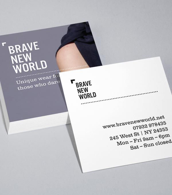 Browse Square Business Card Design Templates Moo United States Examples Of Business Cards Business Card Template Design Square Business Cards