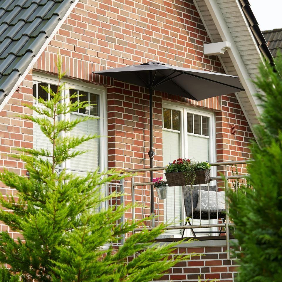 Balkon Sonnenschirm 133x270 Anthrazit