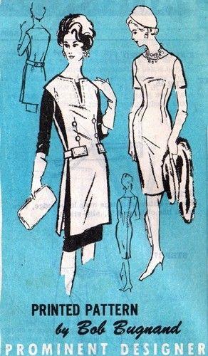 Prominent Designer A885 Dramatic Tunic & Dress / ca. 1960's  - Designer Bob Bugnand