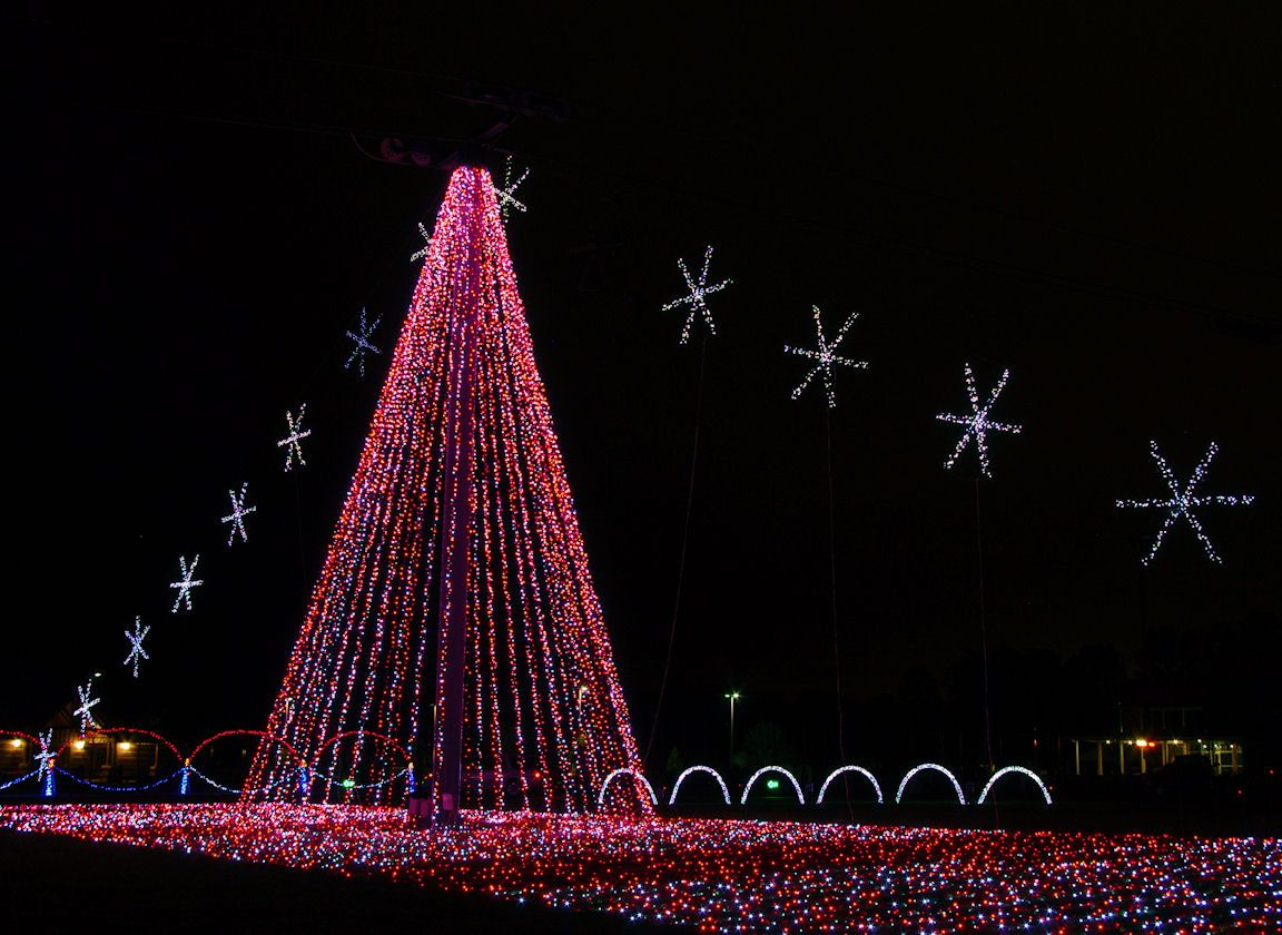 Spectacular Christmas light show in Asheville NC