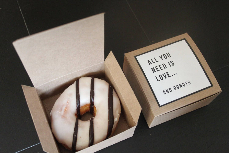 Set 200 4x4x2 Donut Favor Boxes Single Kraft Donut Box Etsy Donut Box Wedding Donuts Donut Wedding Favors