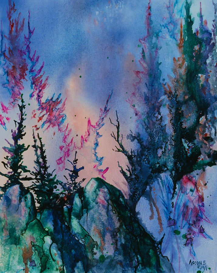 Forest Painting by Teresa Ascone
