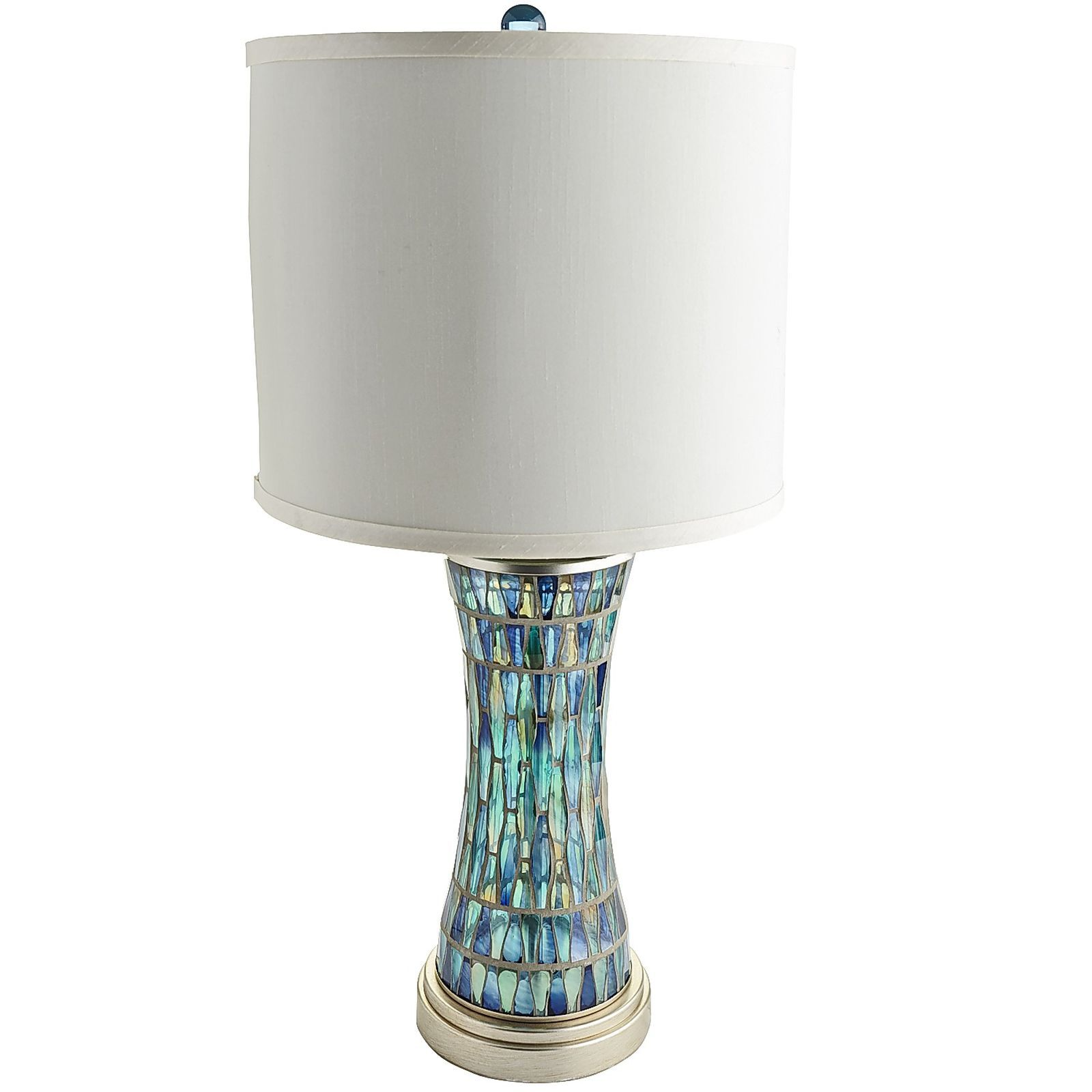 dale top lamp table lamps chip colored blue mosaic tiffany metal design base glass