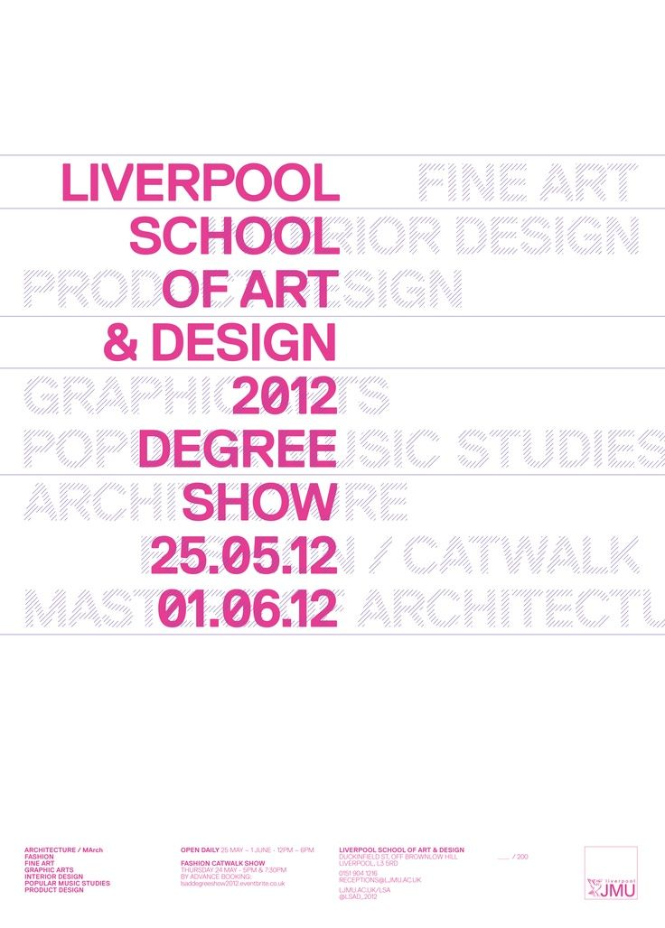 Liverpool School Of Art And Design Degree Show 2012