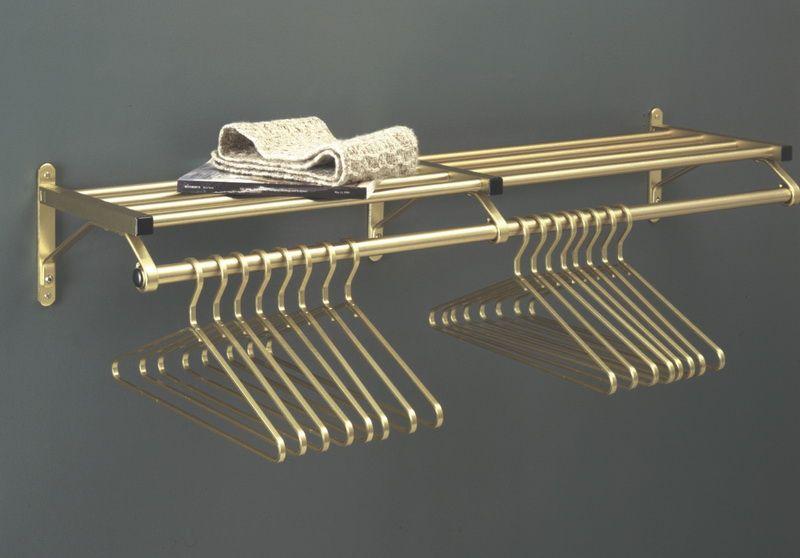 Opentip Com Glaro Modular Rugged All Aluminum Clothing Racks 1 Shelf W Hanger Bar 24 Length Anodized Brass 501 24ga Nha Cửa Trang Tri Nha Cửa Trang Tri