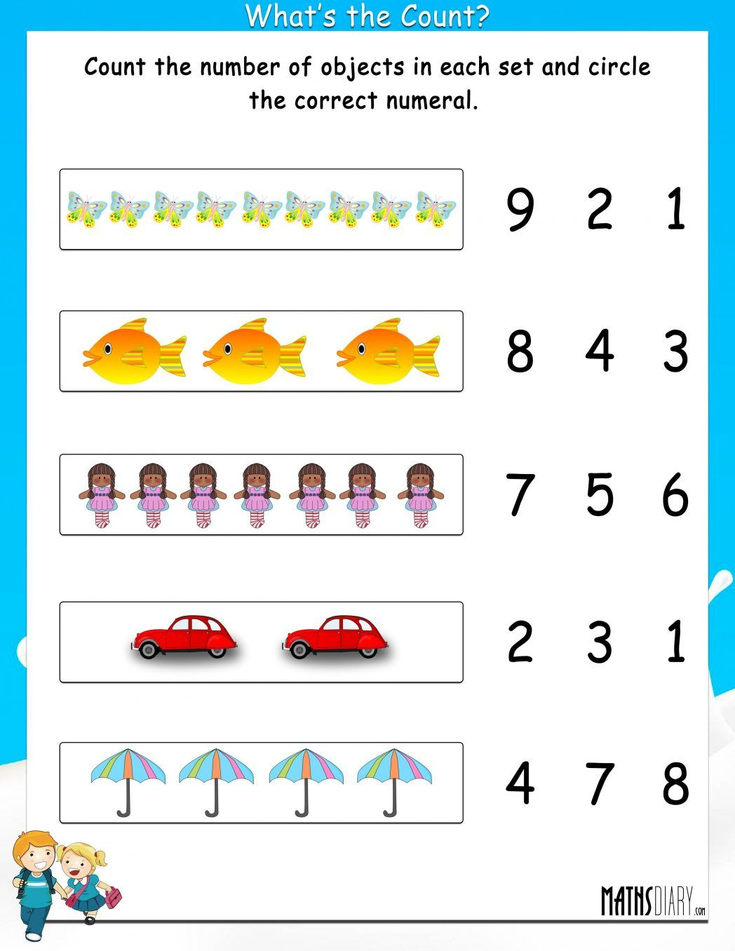 Free year 1 maths worksheets pdf #102488 - Myscres   1st grade math  worksheets [ 1356 x 1048 Pixel ]
