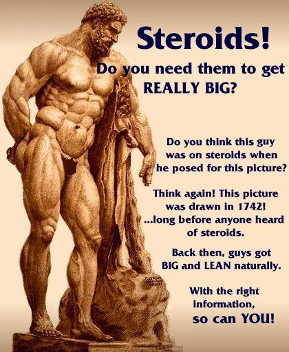 Bodybuilders Not On Steroids |     ancient Greeks and Romans