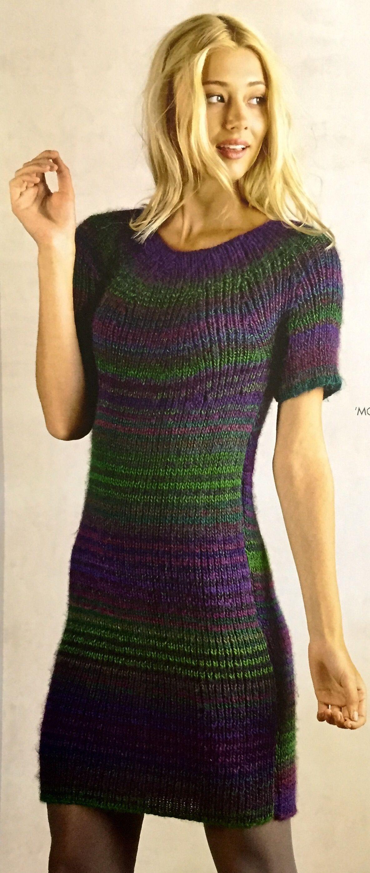 444d9e31bac2 Bouvardia Ribbed Dress. Knitted dress. Spotlight Easy as Yarn magazine Winter  2016. Moda Vera Bouvardia 10-12 ply 180m/100g x 6