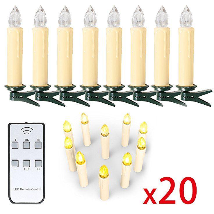 10 20 30 40 Er Weinachten Led Kerzen Lichterkette Kerzen