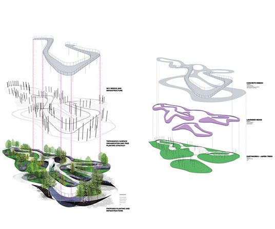Counts Studio Exploded Axon Diagram Drawings Of Path Garden From