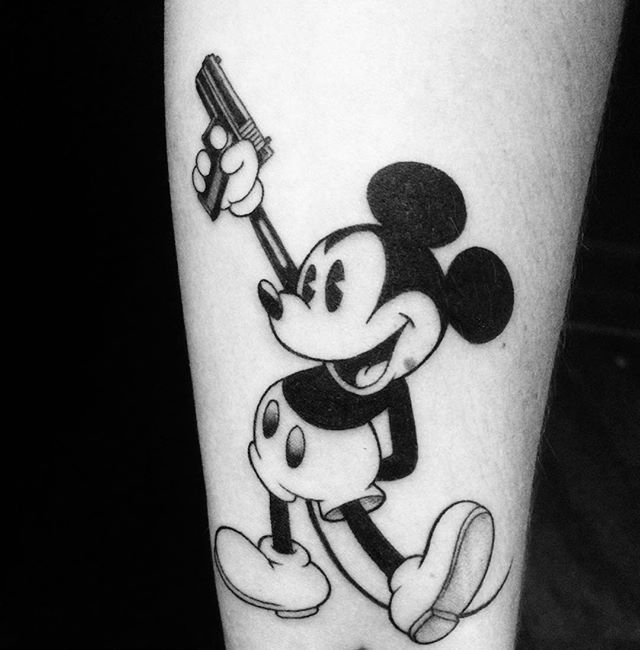 12 Dark Mickey Mouse Tattoos