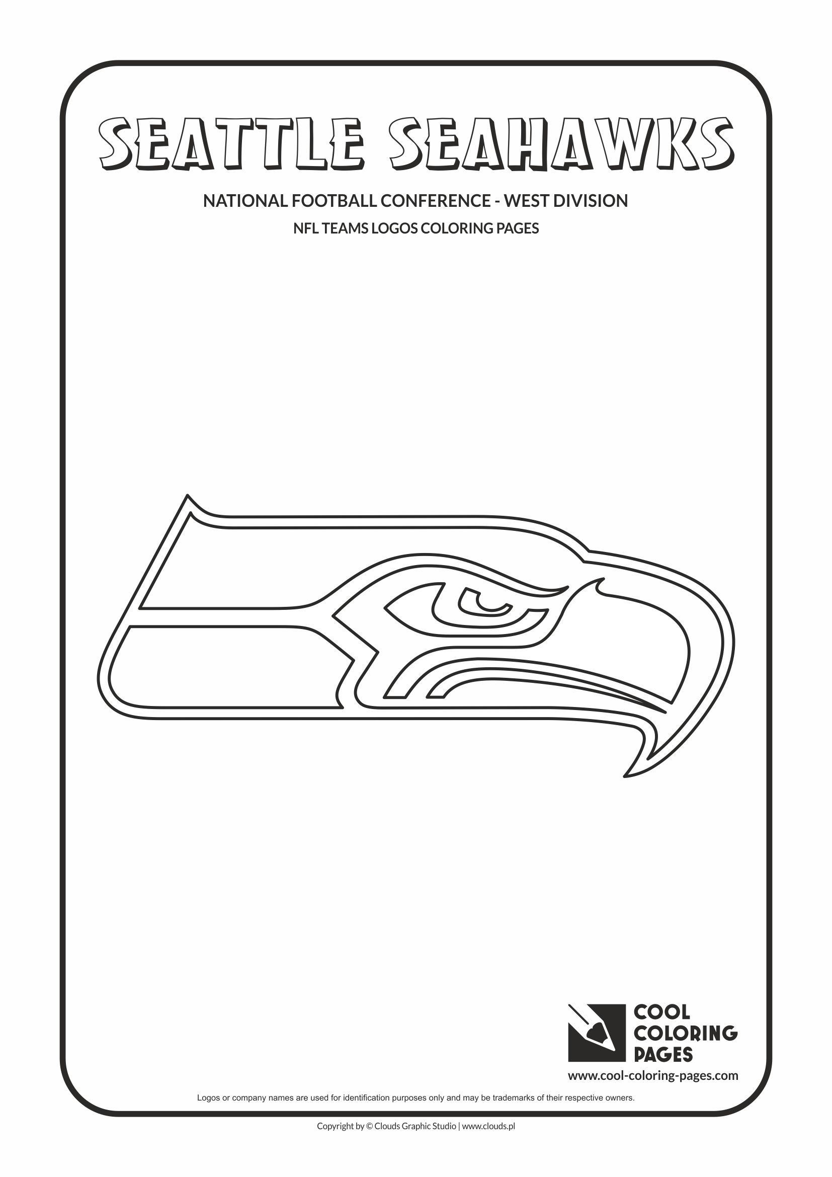 Seattle Seahawks Nfl American Football Teams Logos Coloring