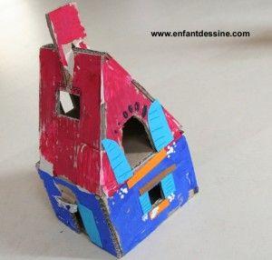 comment fabriquer une maison en carton avec un enfant de 5. Black Bedroom Furniture Sets. Home Design Ideas