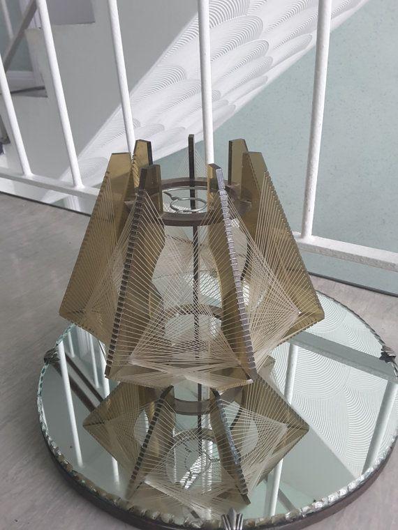 Mid Century Perspex Pendant Ceiling Lampshade Retro Vintage Light