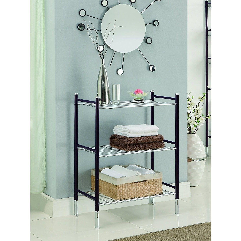 Duplex 3 Tier Oil Rubbed Bronze Bathroom Shelf 24x13 X33 25