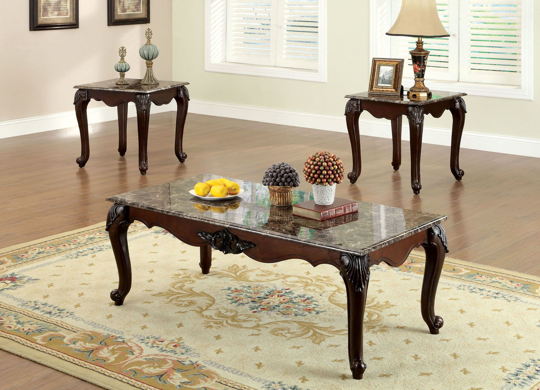 Colcester Coffee Table 2 End Tables Cm4423 3pk Furniture Of America Coffee Tables 3 Piece Coffee Table Set Coffee Table Wood Solid Coffee Table [ 1303 x 1800 Pixel ]
