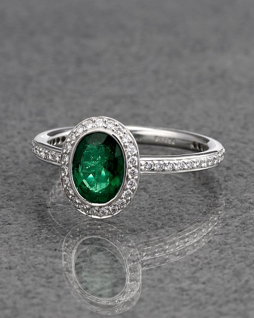 Ritani Platinum 2.17 cttw. Diamond & Emerald Green Sapphire Ring - explore the art deco collection http://www.ritani.com/engagement-rings/style/art-deco-engagement-rings