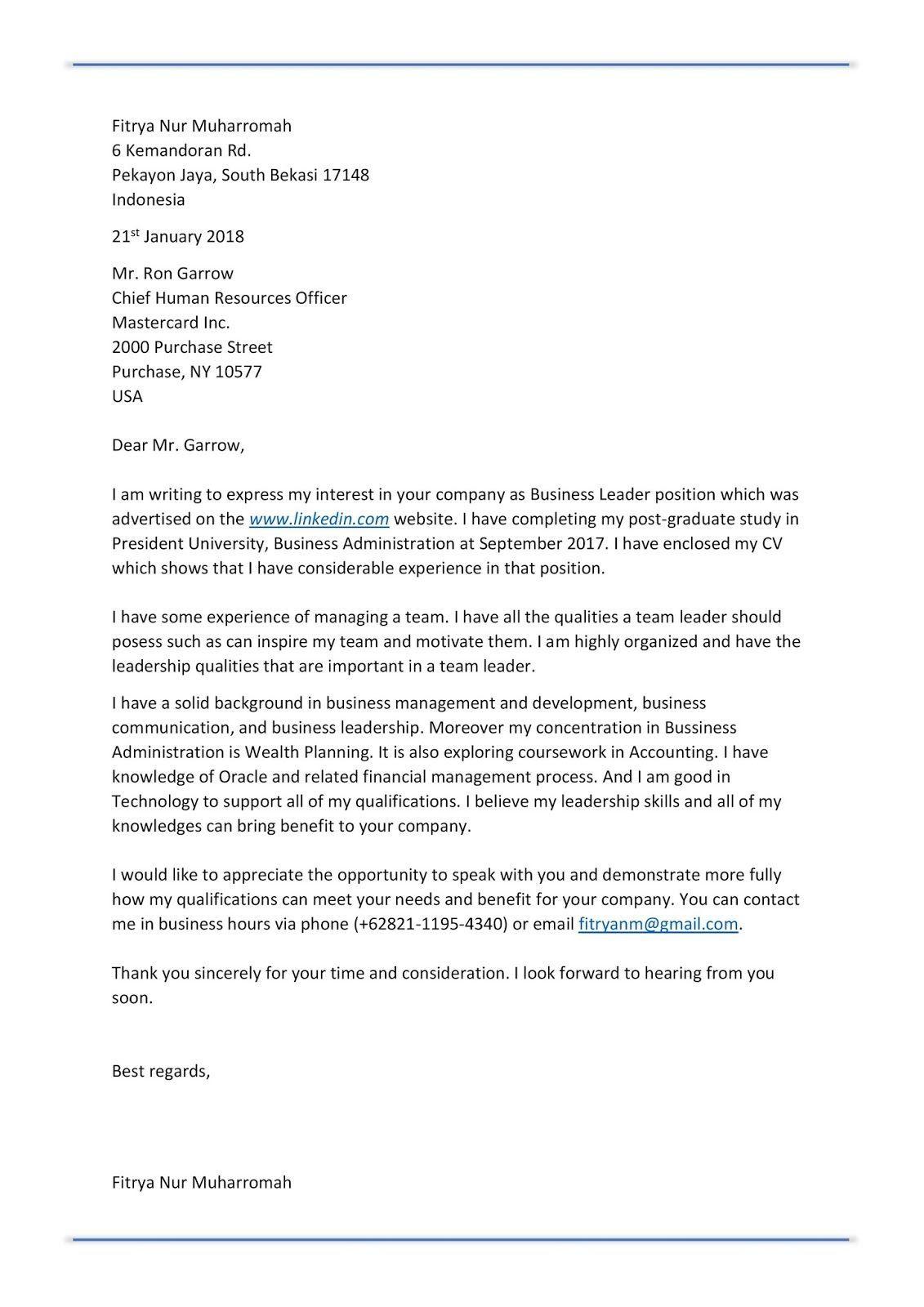 Contoh Surat Lamaran Kerja Bahasa Inggris Cook Di 2020 Bahasa Bahasa Inggris Inggris