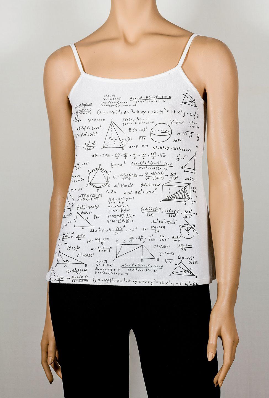 Top mates camiseta de tirantes estampada con fórmulas y