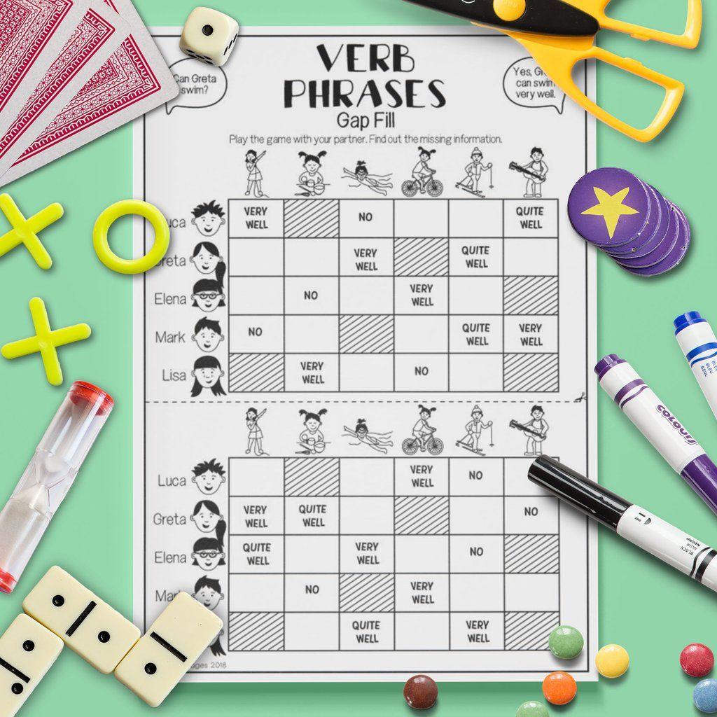 Verb Phrases Gap Fill Game