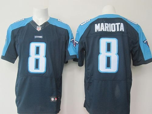 Nike Titans  8 Marcus Mariota Navy Blue Alternate Men s Stitched NFL Elite  Jersey And  Ravens Terrell Suggs jersey fef7c4935