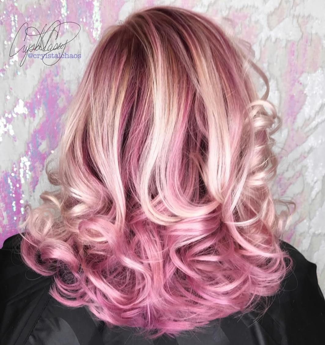 40 Ideas Of Pink Highlights For Major Inspiration Pastel Pink Hair