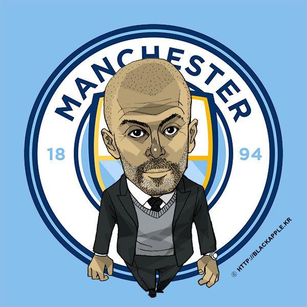 Manchester City Coach Pep Guardiola Fan Art