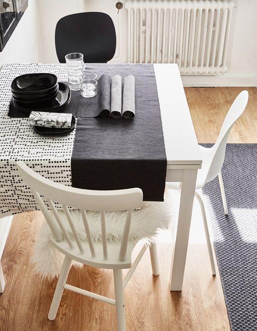 BJURSTA Ausziehtisch, weiß Space kids, Kitchens and Apartment ideas - küchentisch mit stühlen