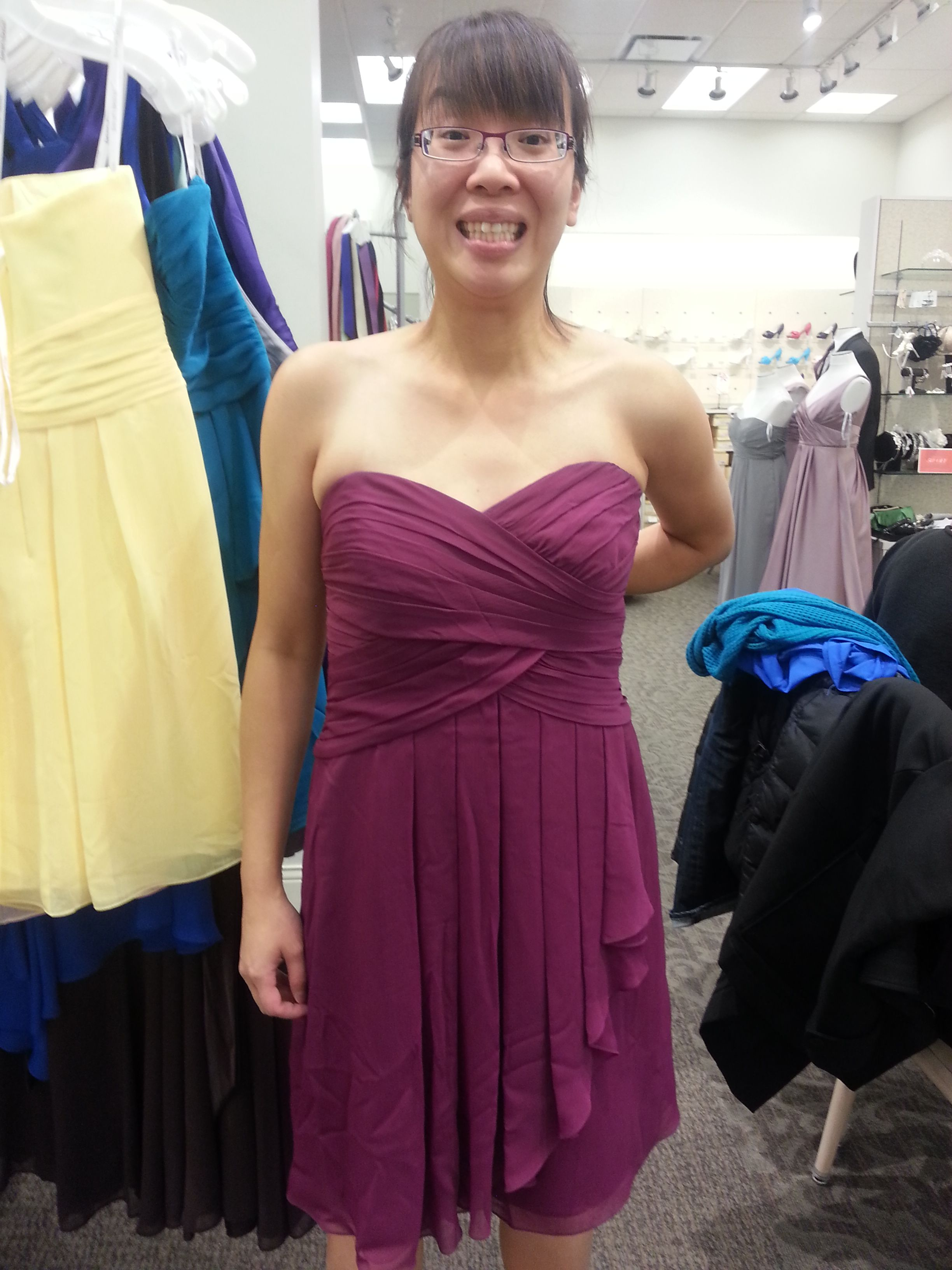 Jeannie Bridesmaid Dress Color Sangria From David S Bridal