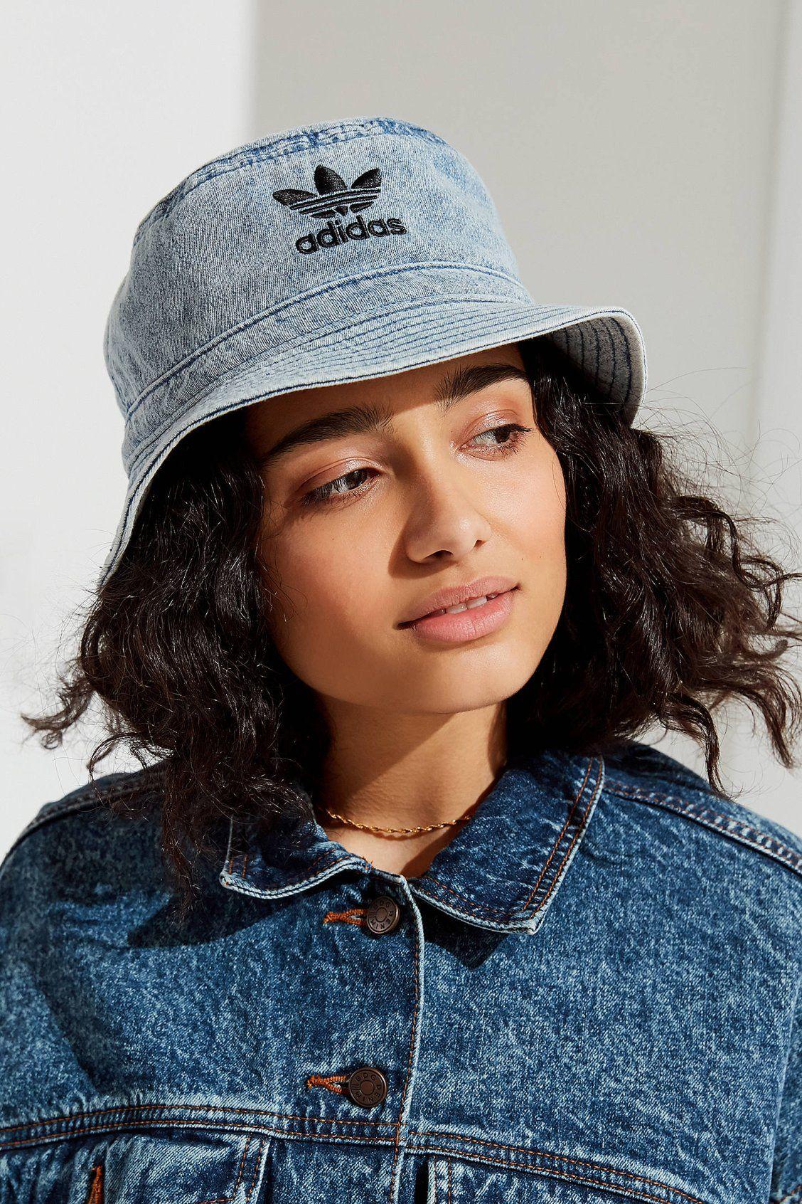 894ee764 adidas Originals Denim Bucket Hat | Tomboy | Hats, Denim hat, Adidas ...
