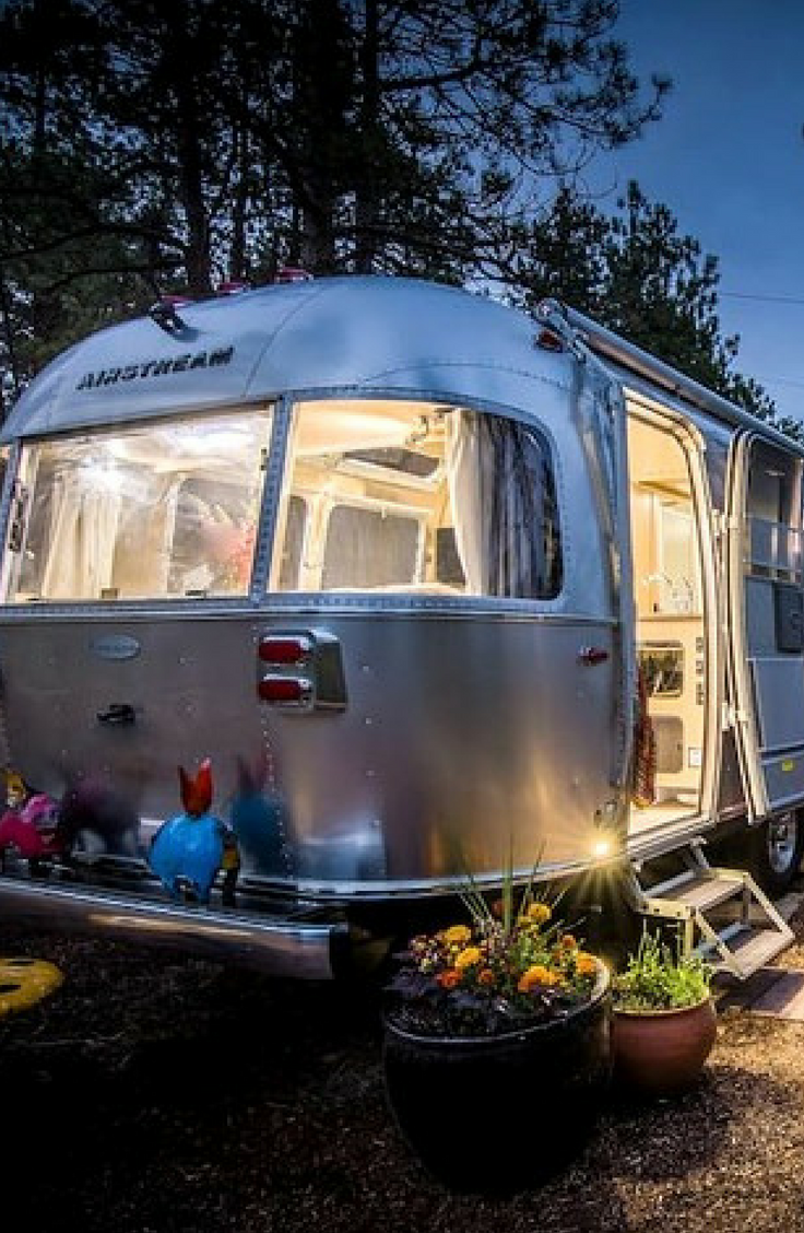 This modern airstream rental near the Rocky Mountains in