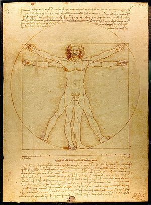 Estudio de las proporciones del cuerpo humano. #Leonardo lo realizó ...