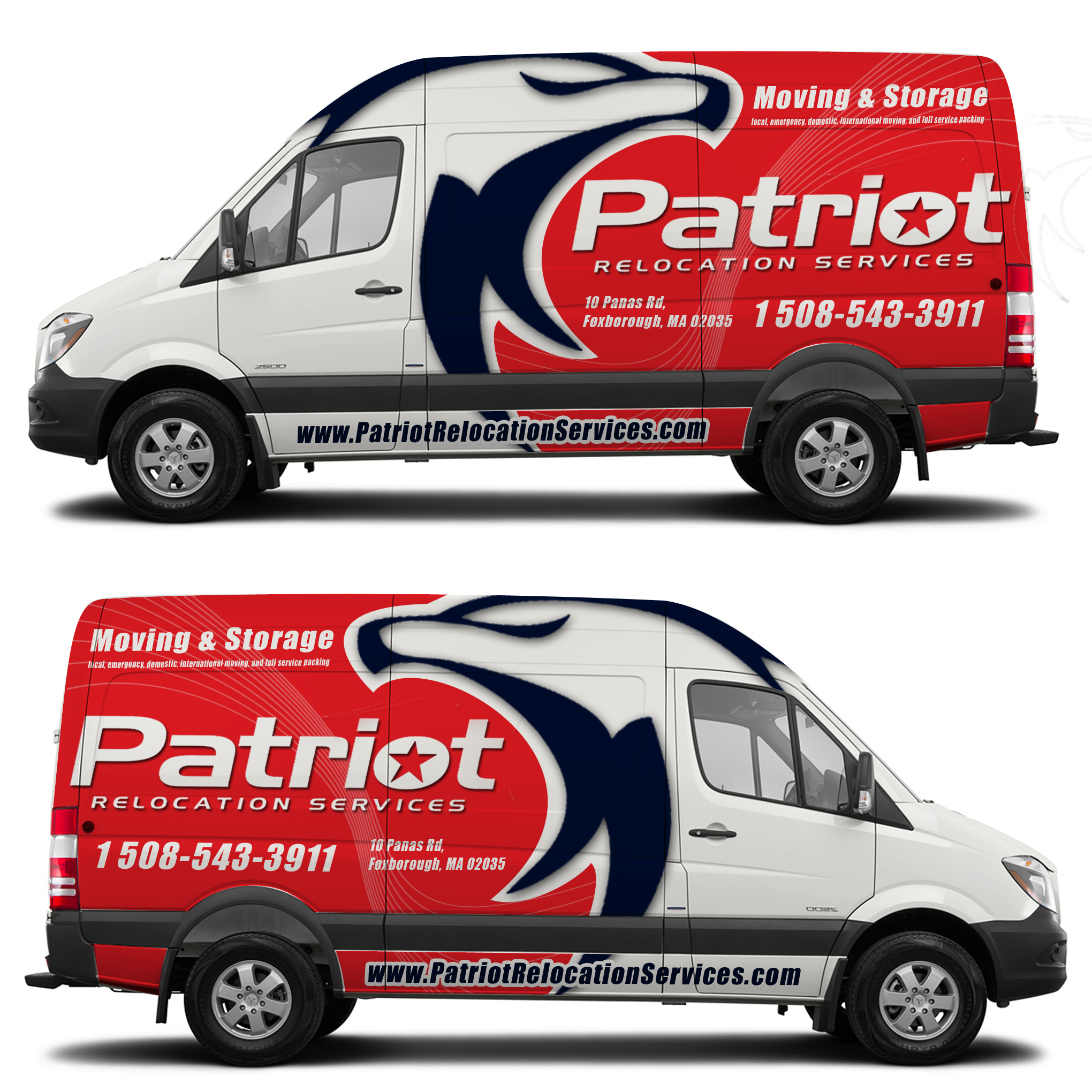 Designs high end moving company seeking truck van wrap design car truck or van wrap contest