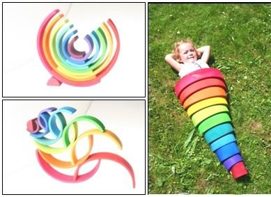 Grimm's Wooden Rainbow Art: want these!!