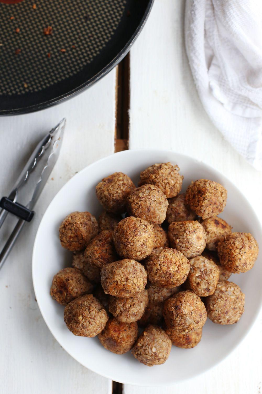 2 Ingredient Vegan Meatballs