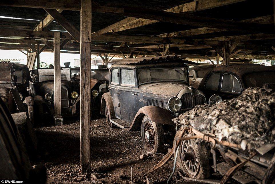 60 Classic cars worth £12MILLION found in French farm garage | 1970s ...
