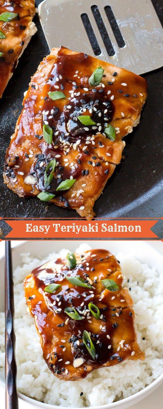 Easy Teriyaki Salmon #salmonteriyaki