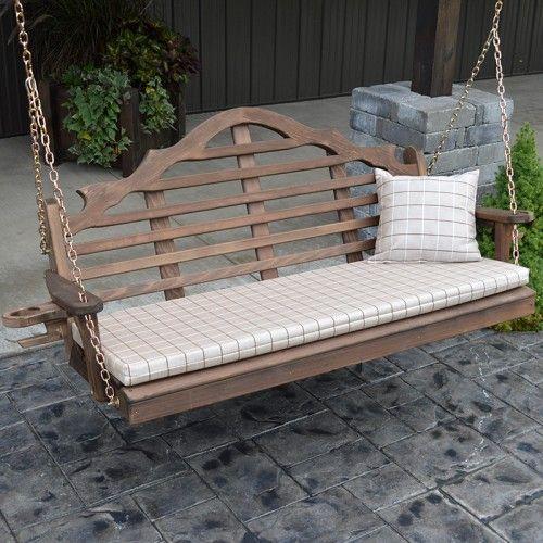 A L Furniture Co Marlboro Red Cedar Porch Swing Porch Swing Porch Furniture Cedar Furniture