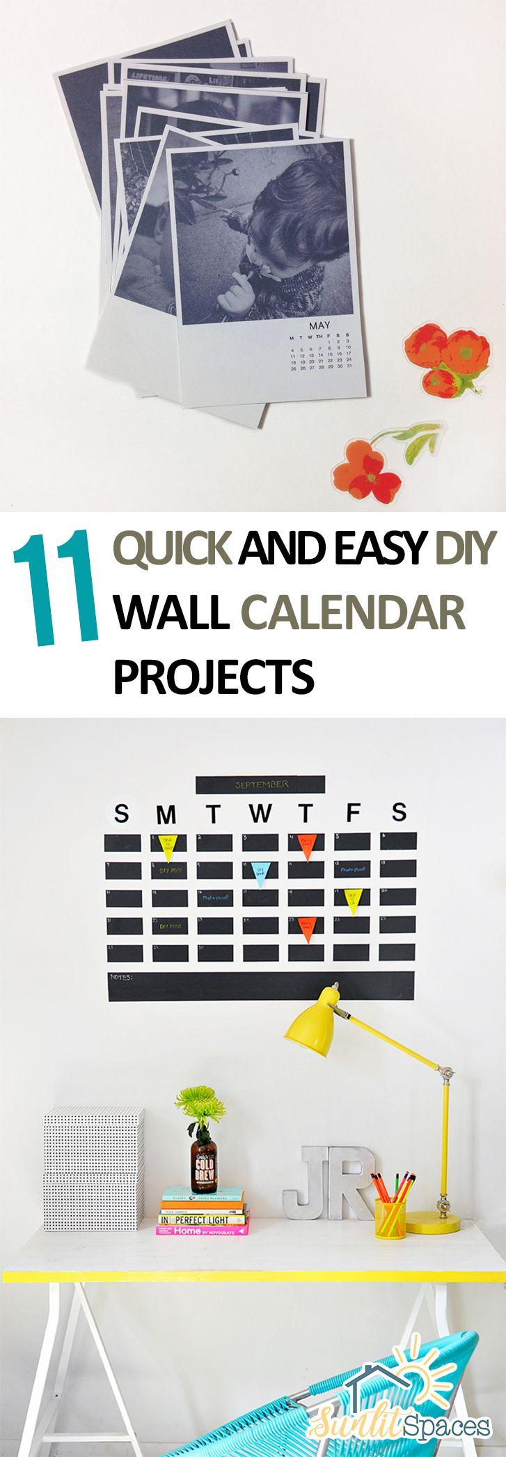 11 quick and easy diy wall calendar projects diy wall and easy 11 quick and easy diy wall calendar projects solutioingenieria Gallery