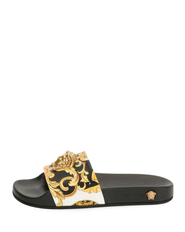 61eb846c4 Versace Palazzo Medusa Pool Slide Sandal