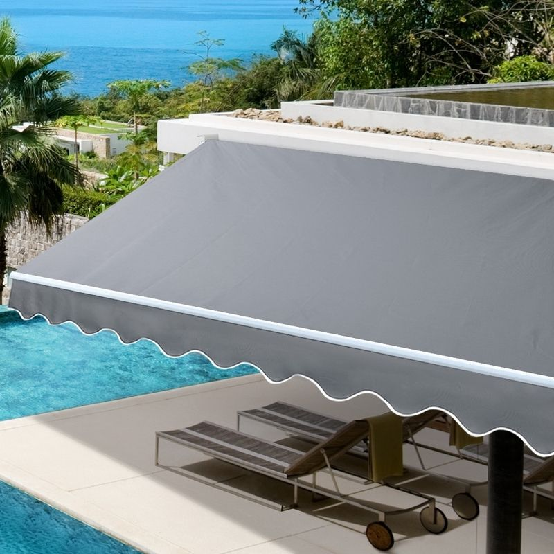 4Mx3M Outdoor Folding Arm Awning Retractable Sunshade ...