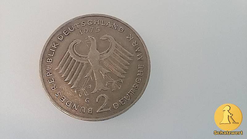 2 Deutsche Mark , Münzrand gering ausgeprägt